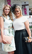 30/07/2015 report free : Winners Announced in Kilkenny Best Dressed Lady, Kilkenny Best Irish Design &amp; Kilkenny Best Hat Competition at Galway Races Ladies Day <br /> From Left at the event were Lucy Roland, Manchester, Rebecca Licco, Manchester, <br /> Photo:Andrew Downes, xposure