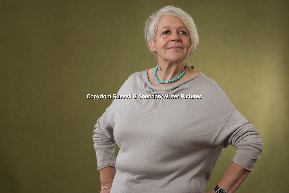 Liz Lochhead at Edinburgh International Book Festival 2014 <br /> 18th August 2014<br /> <br /> Picture by Russell G Sneddon/Writer Pictures<br /> <br /> WORLD RIGHTS