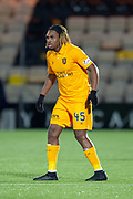 Dolly Menga (#45) of Livingston FC during the Ladbrokes Scottish Premiership match between Livingston FC and Heart of Midlothian FC at the Tony Macaroni Arena, Livingston, Scotland on 14 December 2018.