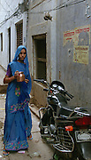 Blue Woman in Varanasi
