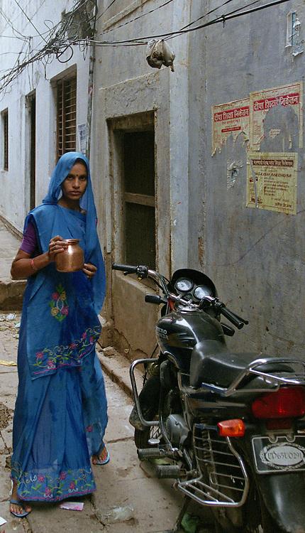 Blue Woman in Varanasi