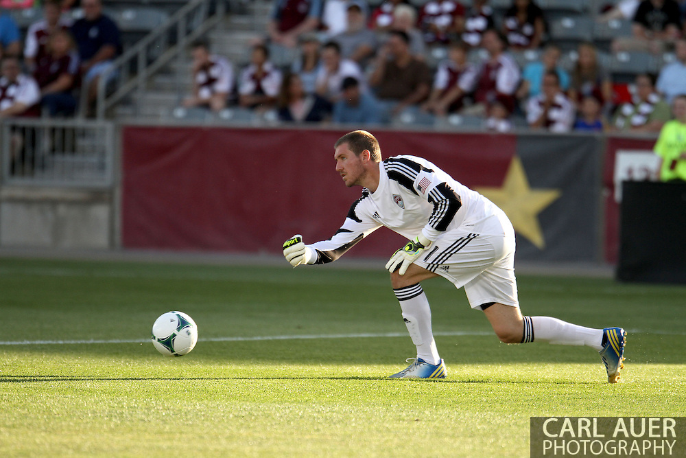 June 15th, 2013 - Colorado Rapids goalkeeper Clint Irwin (31) rolls the ball into action in the first half of the MLS match between San Jose Earthquake and the Colorado Rapids at Dick's Sporting Goods Park in Commerce City, CO