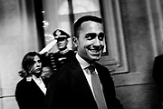 Luigi Di Maio after a meeting with Italian President Sergio Mattarella during the consultations of political parties at the Quirinale palace in Rome on 5 April 2018. Christian Mantuano / OneShot