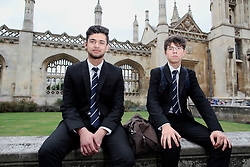 UK ENGLAND CAMBRIDGE 6SEP16 - 6th formers Asif Nauman (16) and Daniel Emilov (16, R) from east London outside King's College in Cambridge city centre.<br /> <br /> jre/Photo by Jiri Rezac<br /> <br /> © Jiri Rezac 2016
