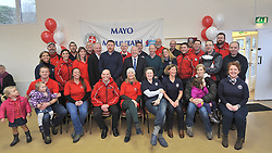 Members past and resent were pictured with Minister of State Michael Ring TD, at the official opening of Mayo Mountain Rescue's headquarters at Pinewoods Westport last week.<br /> Pic Conor McKeown