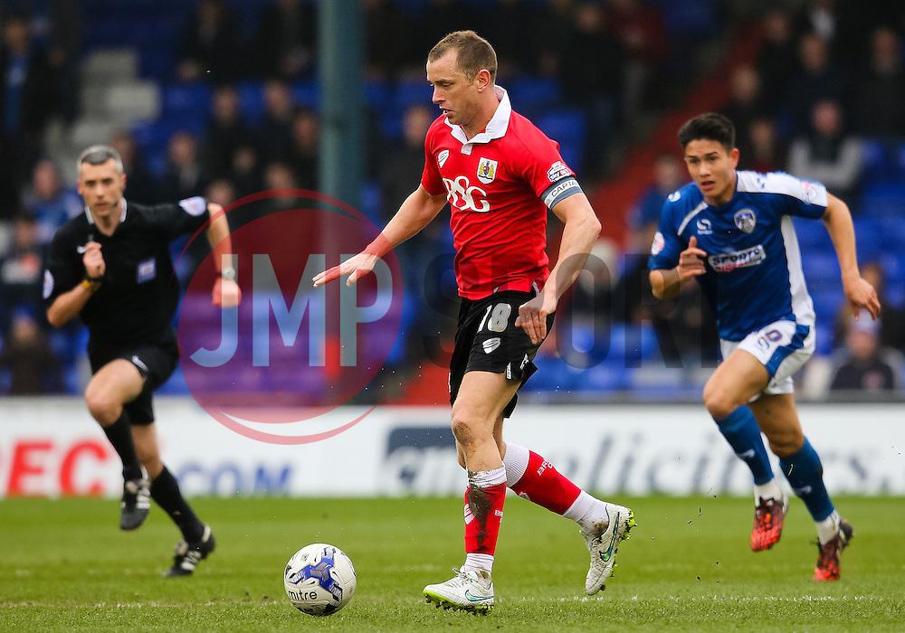 Bristol City's Aaron Wilbraham attacks - Photo mandatory by-line: Matt McNulty/JMP - Mobile: 07966 386802 - 03/04/2015 - SPORT - Football - Oldham - Boundary Park - Oldham Athletic v Bristol City - Sky Bet League One