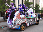 "HISD was well-represented in the 2017 Art Car Parade. Here is Northside High School's ""The Chronicles of Northside."""