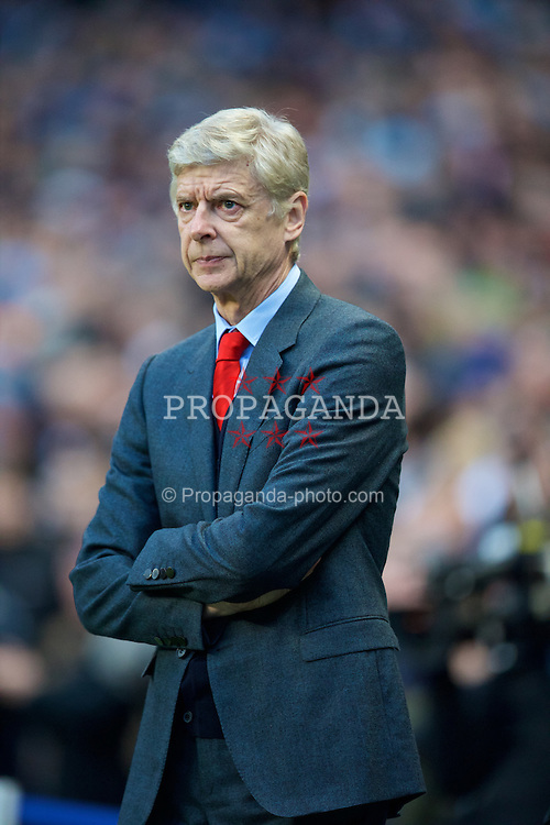 MANCHESTER, ENGLAND - Sunday, January 18, 2015: Arsenal's manager Arsene Wenger before the Premier League match against Manchester City at the City of Manchester Stadium. (Pic by David Rawcliffe/Propaganda)