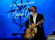 """Musician Rob Thomas performs at the Starkey Hearing Foundation's """"So the World May Hear"""" Awards Gala on Sunday, July 20, 2014 in St. Paul, Minn. The foundation gives away more than 100,000 hearing aids in the U.S. and around the world annually. (Photo by Diane Bondareff/Invision for Starkey Hearing Foundation/AP Images)"""