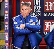 Chelsea Manager Guus Hiddink before the Barclays Premier League match between Crystal Palace and Chelsea at Selhurst Park, London, England on 3 January 2016. Photo by Ken Sparks.