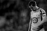 May 25th 2011: note: *Image has been desaturated* Mitchell Pearce of the Blues looks dejected during game 1 of the 2011 State of Origin series at Suncorp Stadium in Brisbane, Australia on May 25, 2011. Photo by Matt Roberts/mattrIMAGES.com.au / QRL