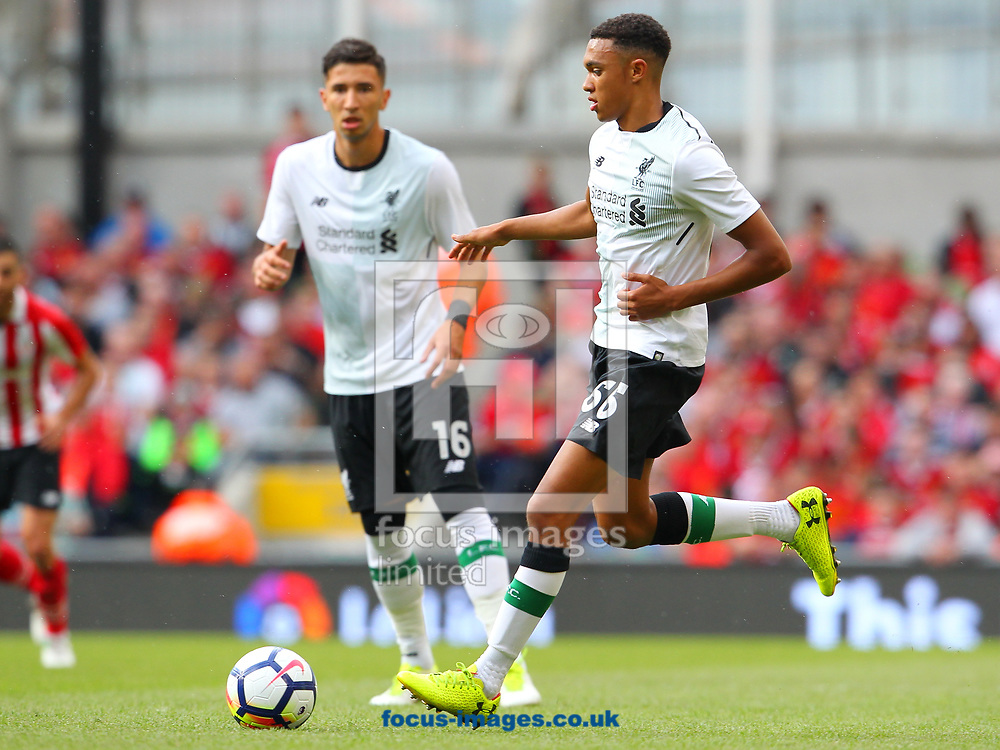 Trent Alexander- Arnold of Liverpool during the Pre-season Friendly match at the Aviva Stadium, Dublin<br /> Picture by Yannis Halas/Focus Images Ltd +353 8725 82019<br /> 05/08/2017