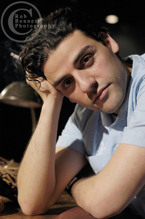 """Actor Oscar Isaac poses for a portrait on the set of """"Beauty of the Father"""", opening January 10 at New York City Center. Isaac, a recent graduate of The Julliard School's Drama Division, plays the role of Federico Garcia Lorca."""