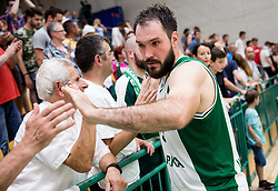 Dalibor Dzapa of Krka after the basketball match between KK Krka Novo mesto and  KK Petrol Olimpija in 4th Final game of Liga Nova KBM za prvaka 2017/18, on May 27, 2018 in Sports hall Leona Stuklja, Novo mesto, Slovenia. Photo by Vid Ponikvar / Sportida