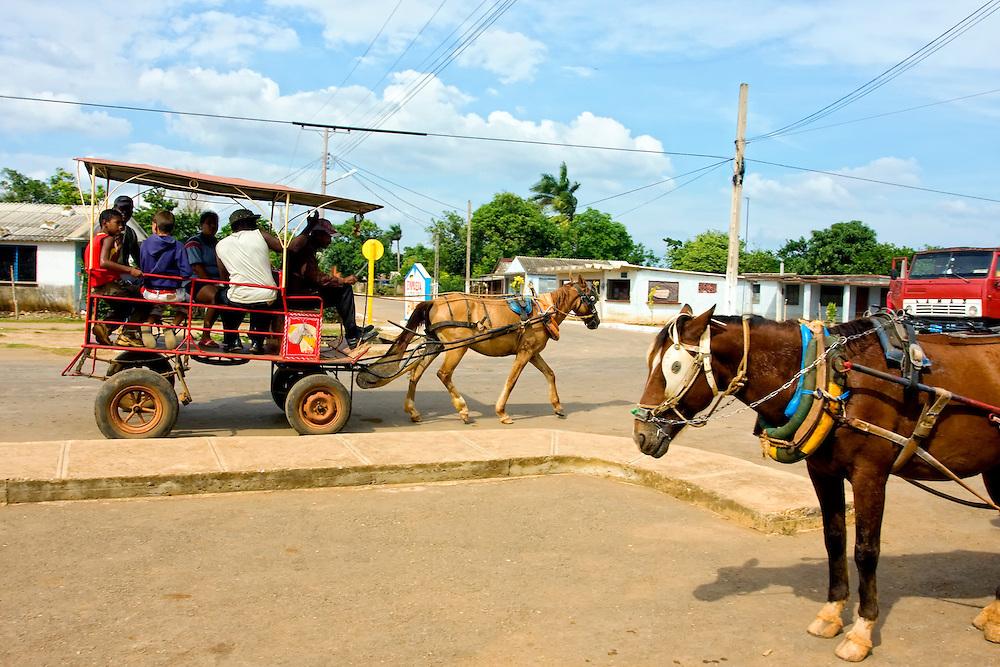 Coche de caballos in Horquita, Cienfuegos, Cuba.