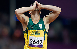 Oscar Pistorius of South Africa winning the Men's 400m - T44 Final athletics competition during Day 11 of the Summer Paralympic Games London 2012 on September 8, 2012, in Olympics stadium, London, Great Britain. (Photo by Vid Ponikvar / Sportida.com)