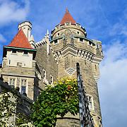 Casa Loma is a Gothic Revival style house and gardens in midtown Toronto, Ontario, Canada, that is now a museum and landmark. It was built as a residence for financier Sir Henry Mill Pellatt. Casa Loma was constructed from 1911 to 1914.