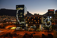 A view of Table Mountain from Cape Town Foreshore and some of the building in the Central Business District.