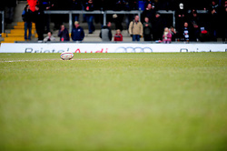 Match Ball - Photo mandatory by-line: Dougie Allward/JMP - Tel: Mobile: 07966 386802 07/04/2013 - SPORT - RUGBY - Memorial Stadium - Bristol. Bristol v Leinster A - B&I Cup.