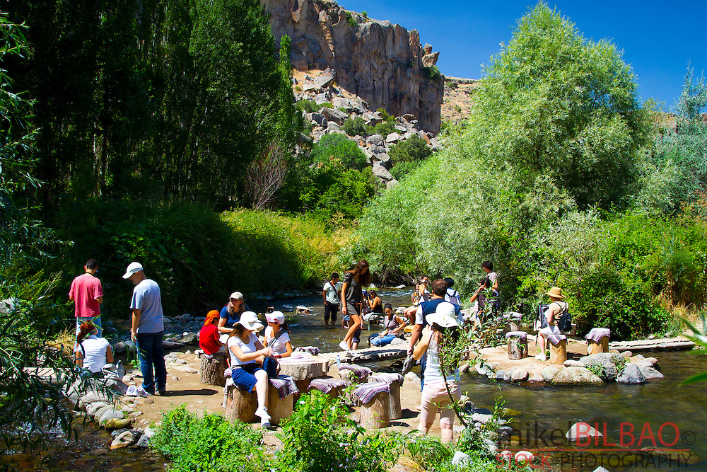 Tourists in Ihlara Valley. Aksaray province.<br />