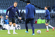 Derby County forward Chris Martin (19) warming up during the EFL Sky Bet Championship match between Derby County and Millwall at the Pride Park, Derby, England on 14 December 2019.
