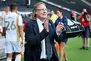MKDons owner Kieth Winkelman claps the players after the EFL Sky Bet League 2 match between Milton Keynes Dons and Exeter City at stadium:mk, Milton Keynes, England on 25 August 2018.