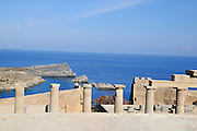Greece, Rhodes, Lindos Acropolis Athena Lindia Temple, 4th century BCE,