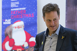 "© Licensed to London News Pictures . 03/07/2014 . Leeds , UK . The Deputy Prime Minister , NICK CLEGG MP , tours the West Yorkshire Playhouse in Leeds today (Thursday 3rd July 2014) . The Liberal Democrat leader and MP for Sheffield Hallam meets cast and crew of production of Maxine Peake's "" Beryl "" based on the life of Beryl Burton , pioneering woman cyclist . Photo credit : Joel Goodman/LNP"