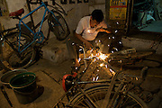 Massive payloads often lead to frame damage which is easily repaired since most of India's bikes are made of steel.
