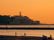 Jaffa as seen from Tel Aviv at sun set