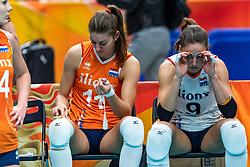 20-10-2018 JPN: Final World Championship Volleyball Women day 18, Yokohama<br /> China - Netherlands 3-0 / Anne Buijs #11 of Netherlands, Myrthe Schoot #9 of Netherlands