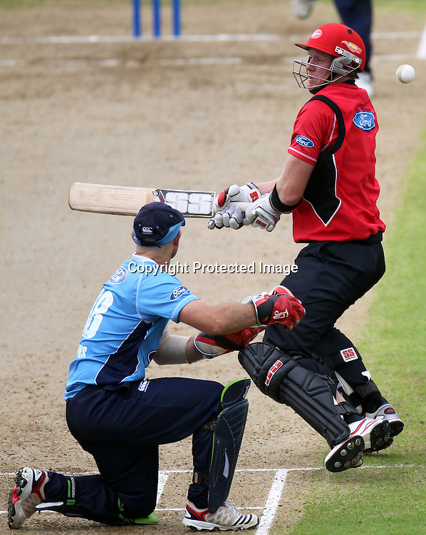 Brendon Diamanti during the Ford Trophy match between the Auckland Aces and Canterbury Wizards. Men's domestic one day cricket. Colin Maiden Park, Auckland, New Zealand. Wednesday 14 December 2011. Ella Brockelsby / photosport.co.nz