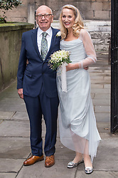 Rupert Murdoch and Jerry Hall attends a Blessing at St.Brides Church in London. Jerry Hall and Rubert Murdoch's Wedding, St.Brides Church, London, England, 05, 03, 16. EXPA Pictures © 2016, PhotoCredit: EXPA/ Photoshot/ Euan Cherry<br /><br />*****ATTENTION - for AUT, SLO, CRO, SRB, BIH, MAZ, SUI only*****