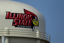 19 August 2017:   ISU water tower during 2017 Illinois State Redbirds Football Red-White Scrimmage at Hancock Stadium in Normal IL (Photo by Alan Look)