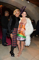 Left to right, MARY J BLIGE and LIBERTY ROSS at a private view of Isabella Blow: Fashion Galore! held at Somerset House, London on 19th November 2013.