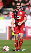 Crawley Town midfielder Luke Rooney prepares to take a free-kick during the Sky Bet League 2 match between Crawley Town and Accrington Stanley at the Checkatrade.com Stadium, Crawley, England on 26 September 2015. Photo by Bennett Dean.