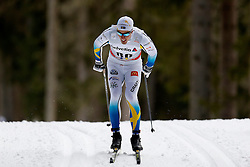 13.12.2014, Davos, SUI, FIS Langlauf Weltcup, Davos, 15 km, Herren, im Bild Calle Halfvarsson (SWE) // during Cross Country, 15km, men at FIS Nordic world cup in Davos, Switzerland on 2014/12/13. EXPA Pictures &copy; 2014, PhotoCredit: EXPA/ Freshfocus/ Christian Pfander<br /> <br /> *****ATTENTION - for AUT, SLO, CRO, SRB, BIH, MAZ only*****