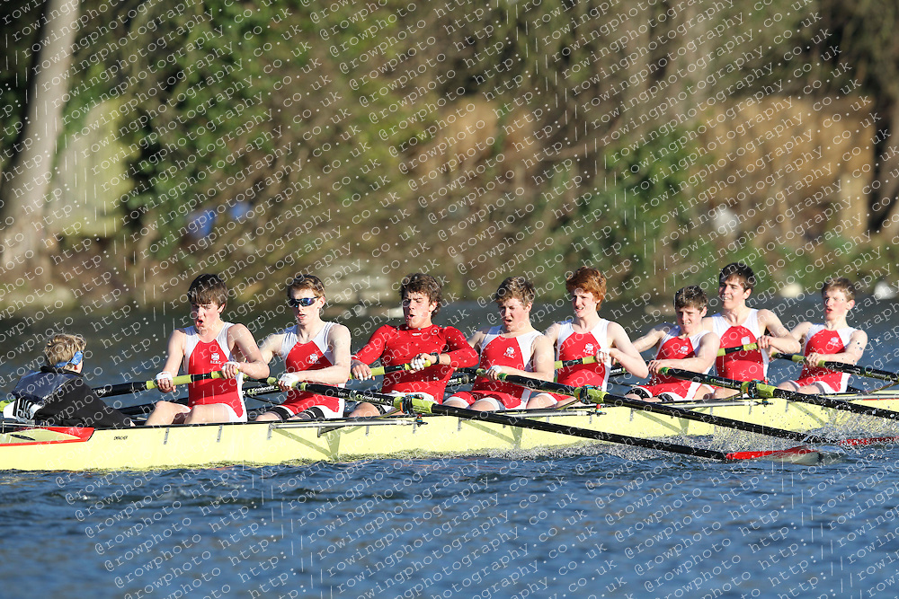 2012.02.25 Reading University Head 2012. The River Thames. Division 2. Radley College Boat Club J16A 8+