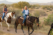 Horseback riding through the desert