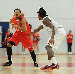 Bristol Flyers' Dwayne Lautier-Ogunleye - Photo mandatory by-line: Dougie Allward/JMP - Mobile: 07966 386802 - 28/03/2015 - SPORT - Basketball - Bristol - SGS Wise Campus - Bristol Flyers v London Lions - British Basketball League