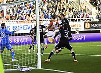 Tromsø 20120823 EUROPA LEAGUE. Tromsø IL - Partizan Beograd, Alfheim Stadion, Tromsø.<br /> Aleksandar Prijovic scorer 1-0 målet i kampen.