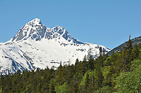A mountain peak near Skagway, Alaska