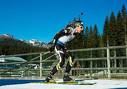 FILLON MAILLET Quentin (FRA) competes during Men 15 km Mass Start at day 4 of IBU Biathlon World Cup 2014/2015 Pokljuka, on December 21, 2014 in Rudno polje, Pokljuka, Slovenia. Photo by Vid Ponikvar / Sportida