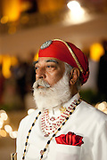 Shriji Arvind Singh Mewar of Udaipur, 76th Custodian of the House of Mewar, at Holi Festival at City Palace, Rajasthan, India