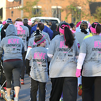 The first annual Hope Contimues 5k for Breast Cancer was held Saturday at Fair Park