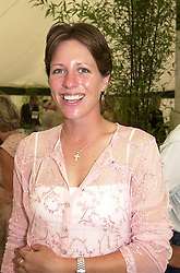 Polo player MISS TAMARA VESTEY, at a polo match in Berkshire on 30th July 2000.OGN 178