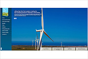 wind turbines on a wind farm, photographed by renewable energy photographer Keith Arkins.