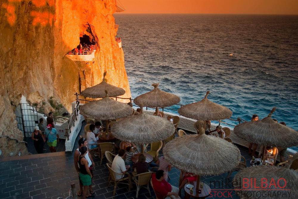 En Xoroi  Cave.<br /> Alaior, Minorca, Balearic Islands, Spain, Europe