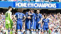 Football - 2016 / 2017 Premier League - Chelsea vs. Sunderland <br /> <br /> Cesar Azpilicueta of Chelsea looks near to tears as Chelsea captain leaves the pitch on 26 minutes at Stamford Bridge.<br /> <br /> COLORSPORT/DANIEL BEARHAM