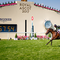 Lady Aurelia (J. Velazquez) wins Gr.1 The King's Stand Stakes, Ascot 20/06/2017, photo: Zuzanna Lupa / Racingfotos.com